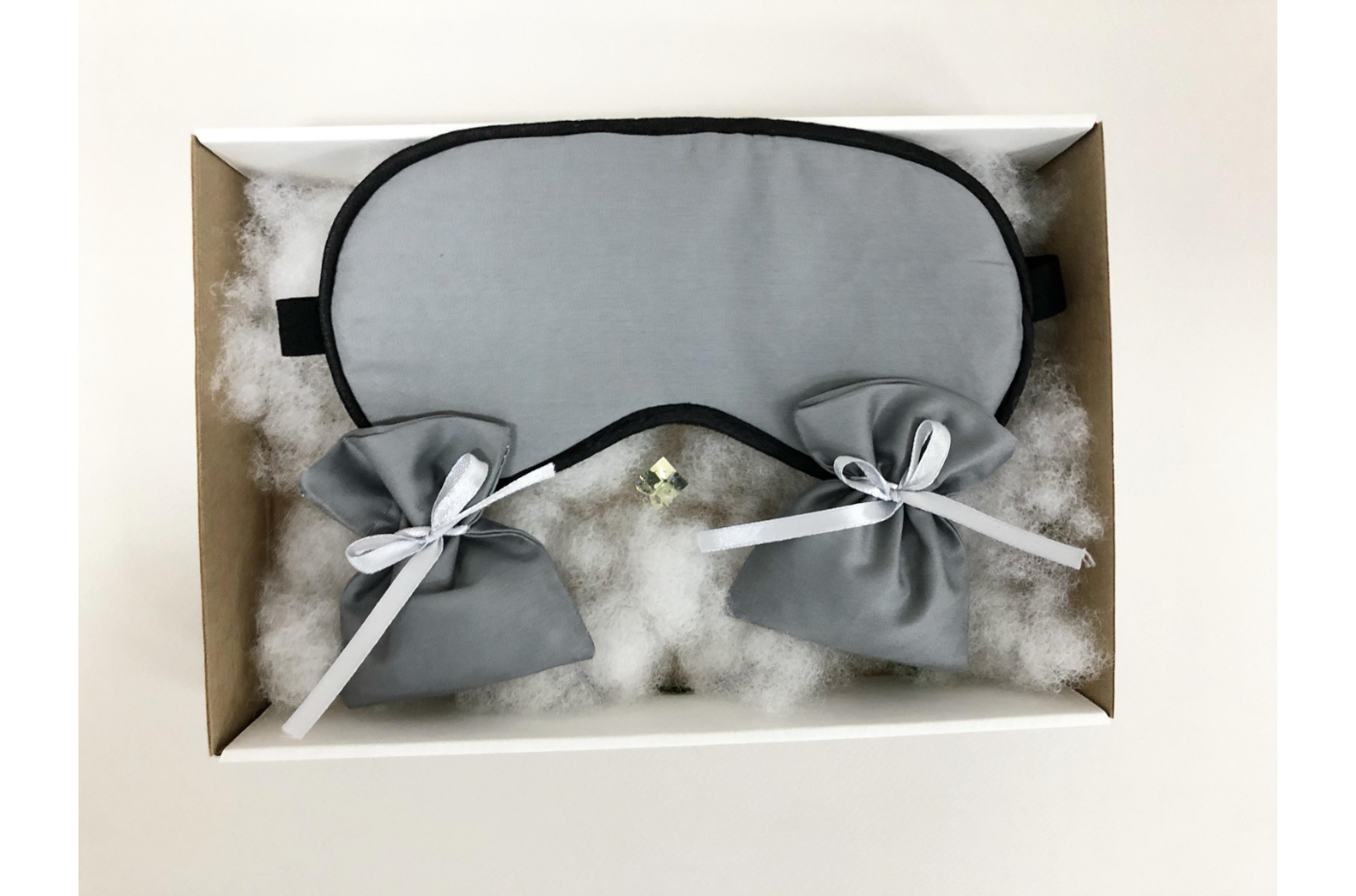 Подарочный набор – «Маска для сна и два ароматных саше с крымской лавандой»