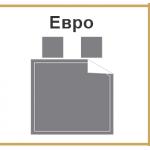 размер постельного белья - ЕВРО