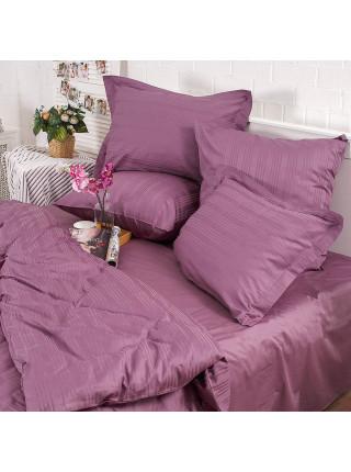 Постельное бельё Страйп-сатин | Пурпурный