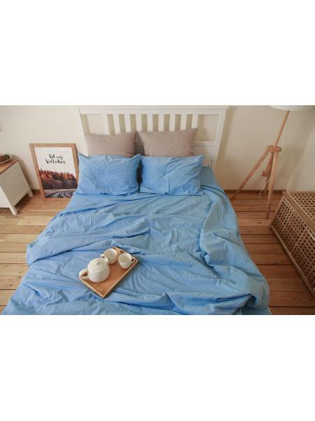 Комплект постельного белья / Вареный хлопок / Голубая лагуна